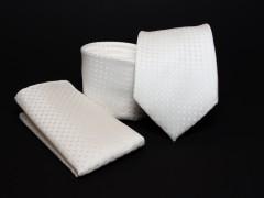 Prémium nyakkendő szett - Ecru mintás