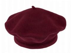 Női gyapjú barett sapka - Bordó Női kalap, sapka