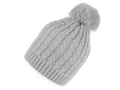 Női sapka lurexel - Szürke Női kalap, sapka