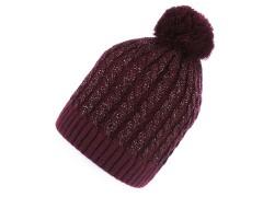 Női sapka lurexel - Bordó Női kalap, sapka