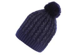 Női sapka lurexel - Sötétkék Női kalap, sapka