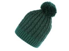 Női sapka lurexel - Sötétzöld Női kalap, sapka