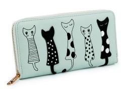 Női macska mintás pénztárca