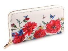 Női virágmintás pénztárca