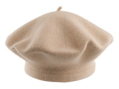 Női gyapjú barett sapka - Drapp
