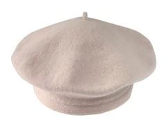 Női gyapjú barett sapka - Ecru Női kalap, sapka