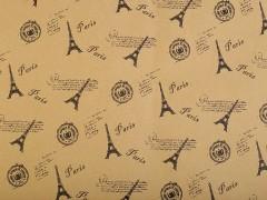 Csomagoló papir kétoldalas 12 ív - Párizs Ajándék csomagolás
