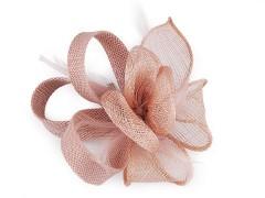 Bross virág gyöngyökkel - Púder