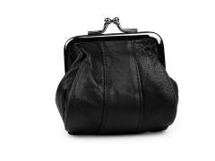 Kis bőr pénztárca - Fekete
