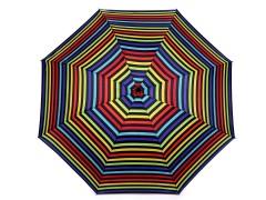 Női összecsukható esernyő csíkozott mintával