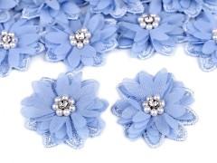 Virág gyöngyökkel 10 db/csomag - Kék
