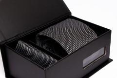 Prémium nyakkendő szett - Fekete pöttyös Szettek