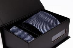 Prémium nyakkendő szett - Kék pöttyös Szettek
