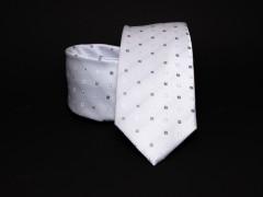 Prémium nyakkendő - Fehér aprókockás