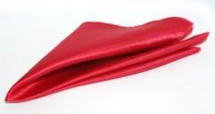 Szatén díszzsebkendő - Meggypiros