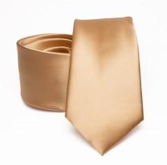 Prémium szatén nyakkendő - Arany Egyszínű nyakkendő