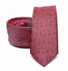 Prémium slim nyakkendő - Bordó aprómintás Aprómintás nyakkendő