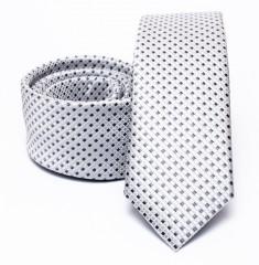 Prémium slim nyakkendő - Fehér kockás