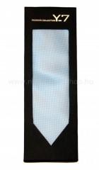 Exkluzív selyem nyakkendő díszdobozban - Világoskék szövött