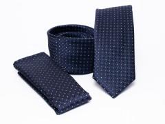 Prémium slim nyakkendő szett - Kék pöttyös Szettek