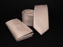 Prémium slim nyakkendő szett - Drapp pöttyös Nyakkendő szettek
