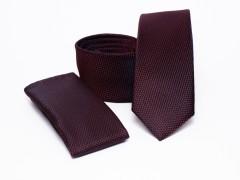 Prémium slim nyakkendő szett - Bordó Nyakkendő szettek
