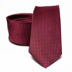 Prémium selyem nyakkendő - Bordó aprómintás Selyem nyakkendők