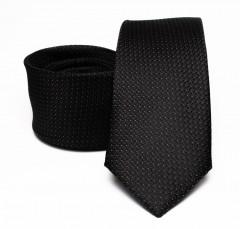 Prémium selyem nyakkendő - Fekete aprómintás Selyem nyakkendők