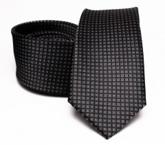 Prémium selyem nyakkendő - Fekete aprópöttyös Selyem nyakkendők