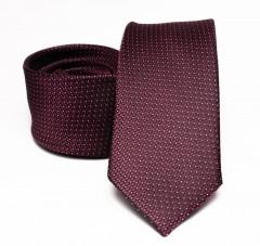 Prémium selyem nyakkendő - Bordó Selyem nyakkendők
