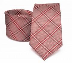 Prémium selyem nyakkendő - Lazac kockás Selyem nyakkendők