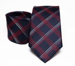 Prémium selyem nyakkendő - Sötétkék kockás Kockás nyakkendők