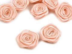 Szatén rózsa 5 db - Púder