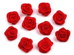 Mini textil virág 10 db/csomag - Piros