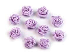 Mini textil virág 10 db/csomag - Halványlila