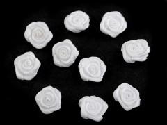 Mini textil virág 10 db/csomag - Fehér