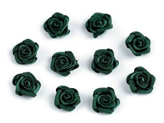 Mini textil virág 10 db/csomag - Fekete