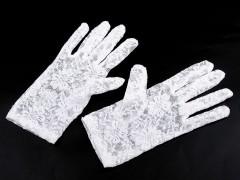 Alkalmi csipkekesztyű - Fehér Női kiegészítők