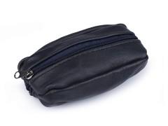 Bőr kulcstartó - Sötétkék Férfi táska, pénztárca