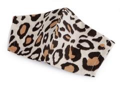 Pamut szájmaszk - Leopárd  Egészségügyi termék