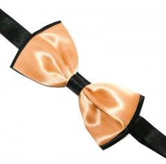 Zsorzsett szatén csokornyakkendő - Fekete-barack Csokornyakkendő
