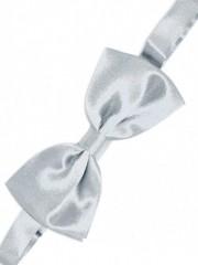 Gyerek szatén csokornyakkendő - Ezüst Csokornyakkendő
