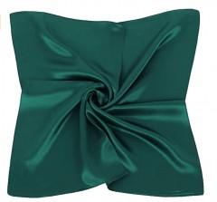 Zsorzsett szatén női kendő - Sötétzöld Női kendők, sálak