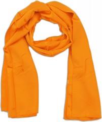 Zsorzsett szatén női sál - Narancssárga