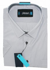 Goldenland extra rövidujjú ing - Fehér halszálkás Extra méret