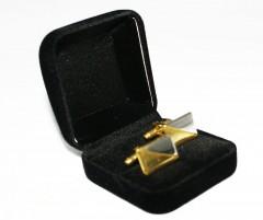 Mandzsettagomb díszdobozban - Arany-nikkel Mandzsetta, Nyakkendőtű