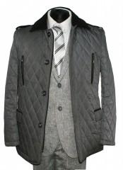 Tavaszi férfi steppelt kabát - Szürke