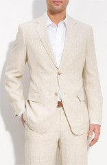 Marco Renzo len öltöny - Drapp