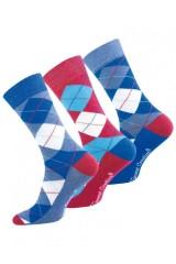 Férfi kárómintás zokni színes - 3 db/csomag Férfi zokni, pizsama