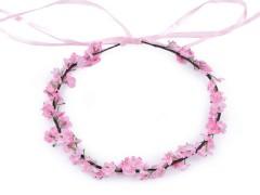 Virágos hajkoszorú - Rózsaszín Ékszer, hajdísz